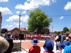 Crowd at Blayney War Memorial service 29/10/2015