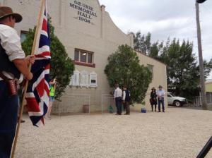 Laying of wreath at Geurie Memorial Hall 21/10/2015