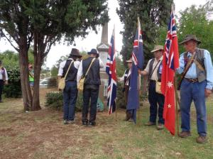 Laying of the wreath travelling with the Coo-ee March Re-enactment at Wongarbon Soldiers Memorial 21/10/2015
