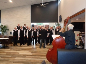 Macquarie Male Singers at Bathurst RSL Club service 31/10/2015