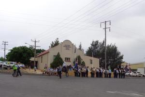 Marches arriving at Geurie Memorial Hall 21/10/2015