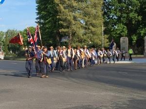 Marchers leaving Blayney from near the Blayney War Memorial 30/10/2015