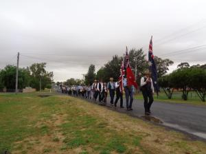 Marchers leaving Geurie 22/10/2015