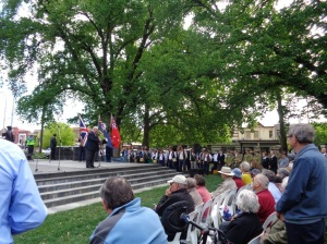 Cr. John Davis, Mayor of Orange, speech at Orange War Memorial 27/10/2015