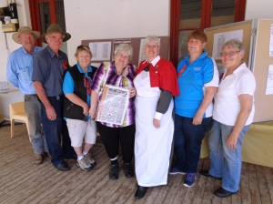 Some of the support people with Sue Milne at Molong Museum 26/10/2015