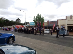 Start of the street parade at Molong 26/10/2015