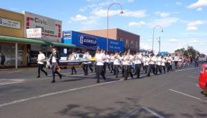 St Johns Eagles Marching Band leading the parade in Dubbo, 20/10/2015