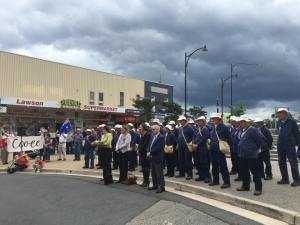 Crowd at the service at Lawson War Memorial 6/11/2015