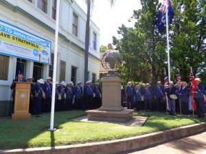 Deputy Mayor of Strathfield, Cr. Andrew Soulos, at Strathfield War Memorial service 10/11/2015