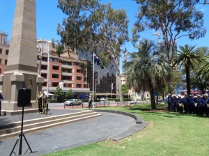 The Lord Mayor of Parramatta, Cr. Paul Garrard, at Parramatta War Memorial 9/11/2015