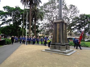 Marchers arriving at Redfern War Memorial 11/11/2015