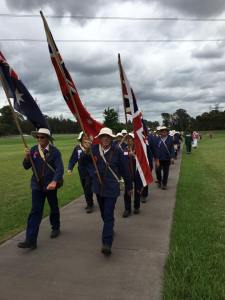 Marchers arriving at Mount Druitt Waterholes Remembrance Garden 8/11/2015