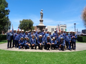 Marchers in front of Lidcombe War Memorial after service 10/11/2015