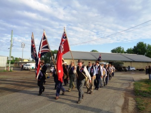 Marchers leaving Bathurst Showground 1/11/2015