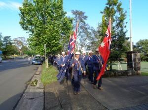 Marchers leaving Springwood 7/11/2015