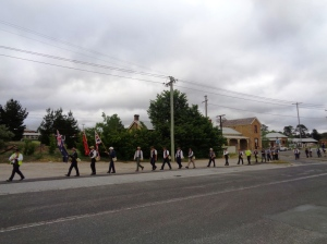 Marchers leaving Wallerawang 3/11/2015