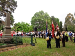 Commemorative service at Meadow Flat War Memorial 2/11/2015