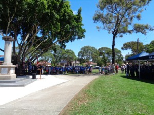 Service at Merrylands Memorial Park War Memorial, 9/11/2015